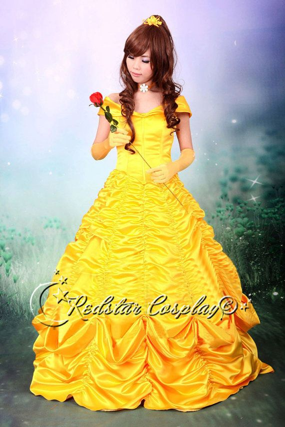 Beauty and the Beast Belle Disney Princess Evening Gown Dress Cosplay  Custom made in Any size 3850feb4d39a