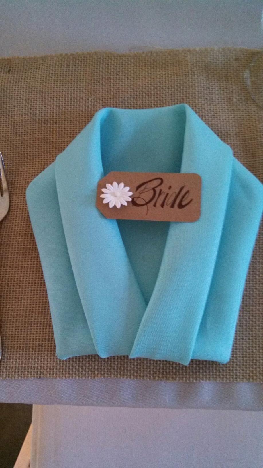 Pliage De Serviette Original tuxedo napkin fold | pliage serviette facile, pliage