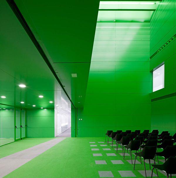 Social Services Office Center By Dosmasuno Arquitectos Colour Architecture Corporate Interiors Auditorium Design
