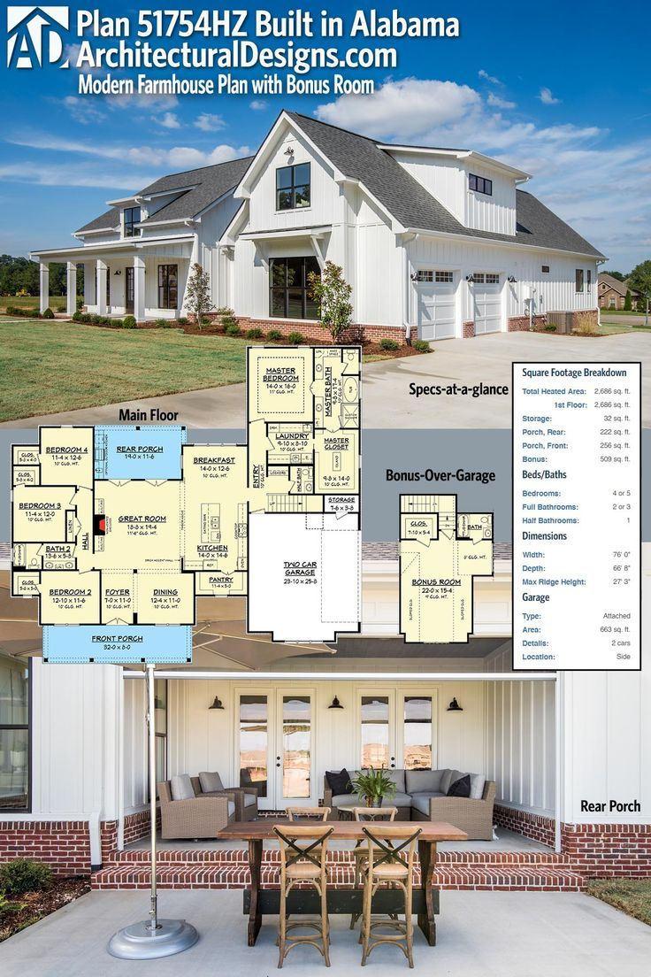 master bedroom additions over garage%0A This plan gives you over square feet of living space plus a bonus room over  the garage giving