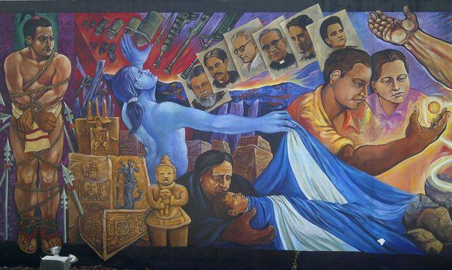 Mural Universidad Tecnologica, El Salvador. Foto: Ana Silva