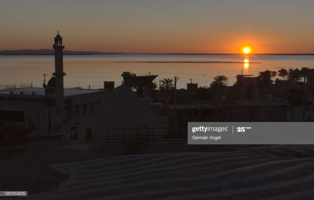 Peaceful Sunset In Bandarelaft Village Of Qeshm Island Persian Gulf Iran Photogr #Ad, , #Ad, #Village, #Qeshm, #Bandarelaft, #Peaceful