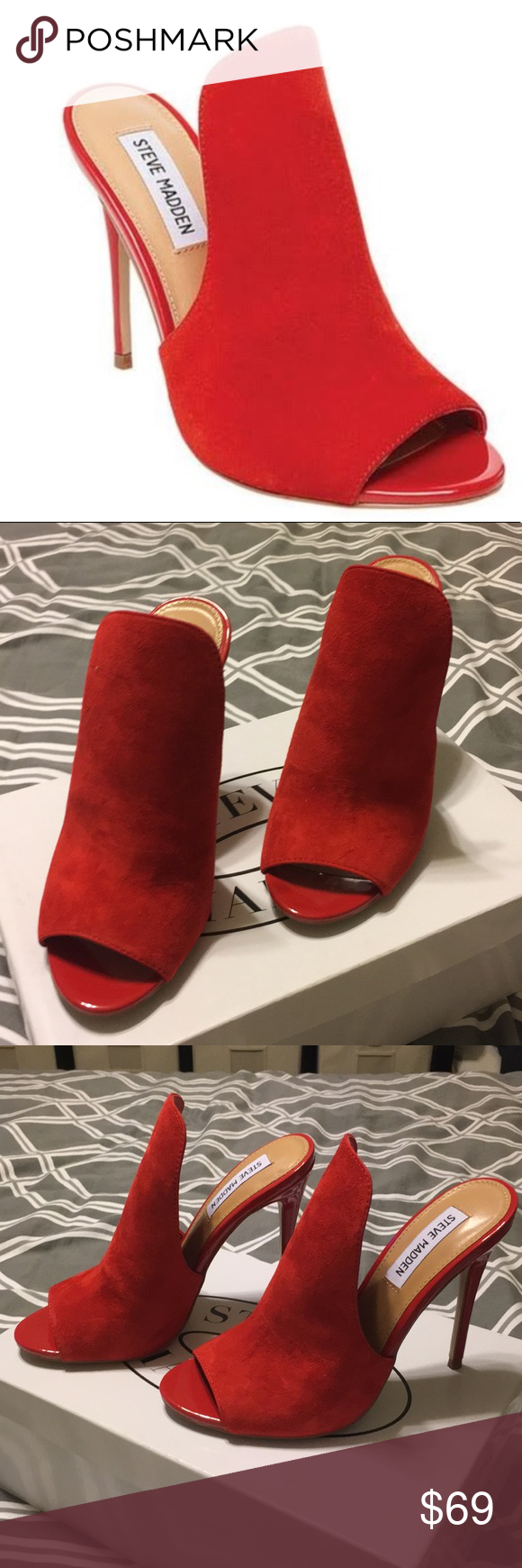 Steve Madden Sinful Red Suede Heel