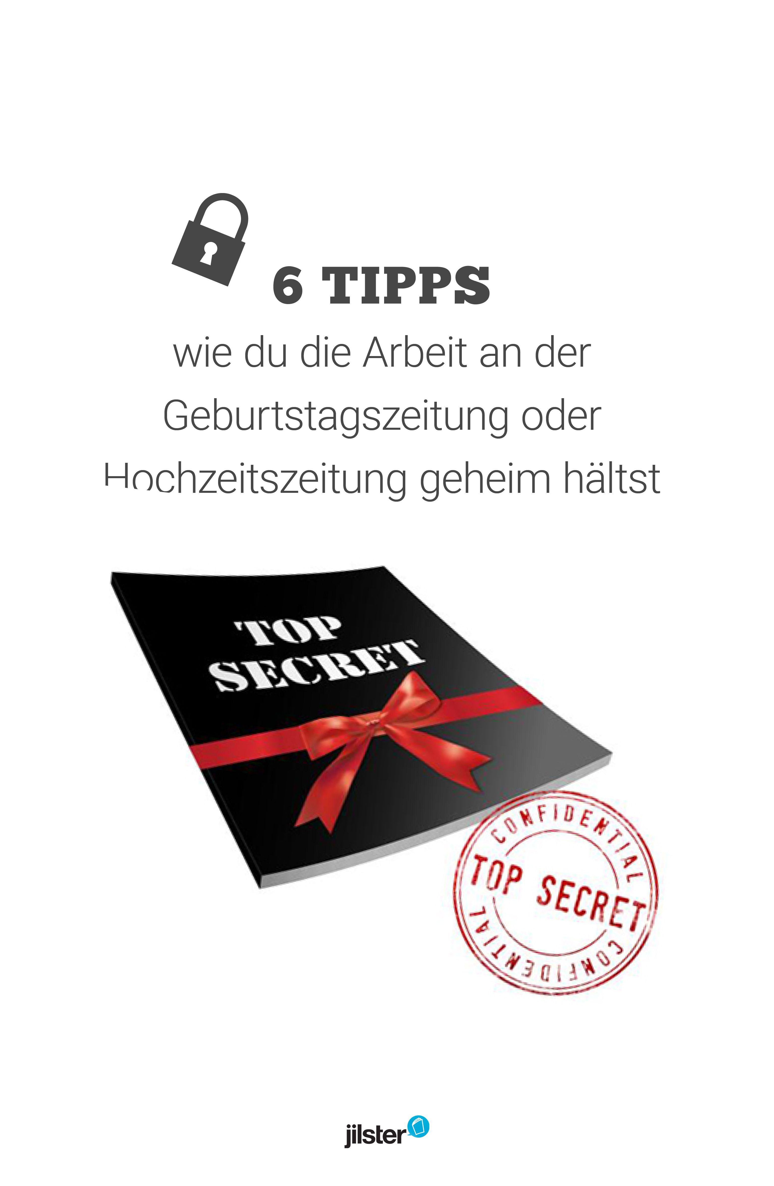 Überraschungsprojekt geheim halten! | Zeitschrift gestalten ...