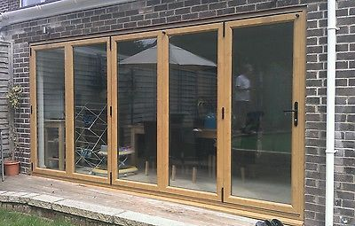 UPVC Bi-Folding Doors Irish oak | eBay | House extension | Pinterest ...