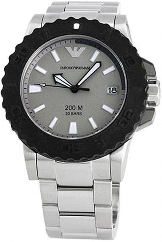 Emporio Armani Ar5970 Watch Sportivo Men S Black Rotating Bezel Stainless Steel Emporio Armani Mens Watches Armani Men Chronograph Watch Men