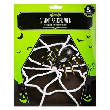 Giant Spider Web 15 Metres #PoundlandHalloween Poundland - giant spider halloween decoration