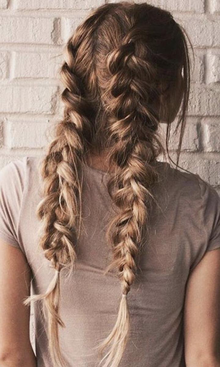 Fishtail French Braids Hair Ideas Frenchbraid Hair Styles Long Hair Styles Braided Hairstyles