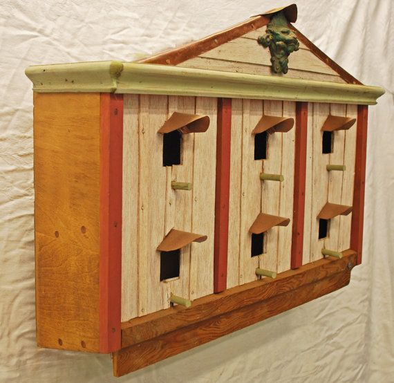 6 apartment Purple Martin bird house