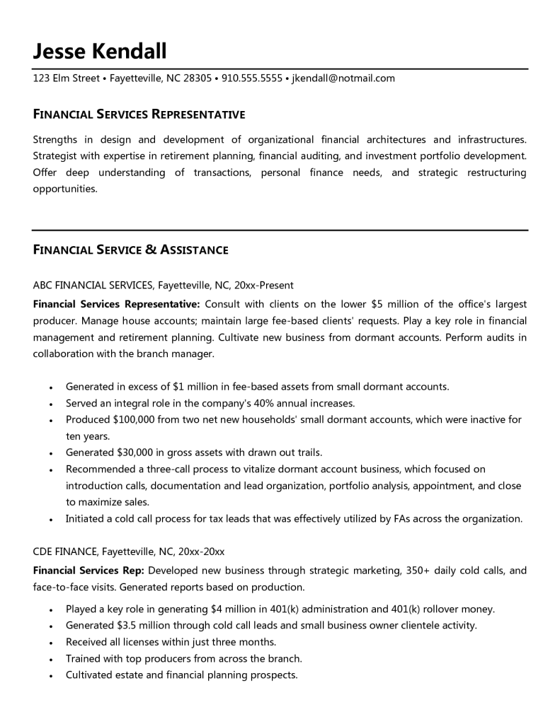 Patient Service Representative Resume Template Builder Free
