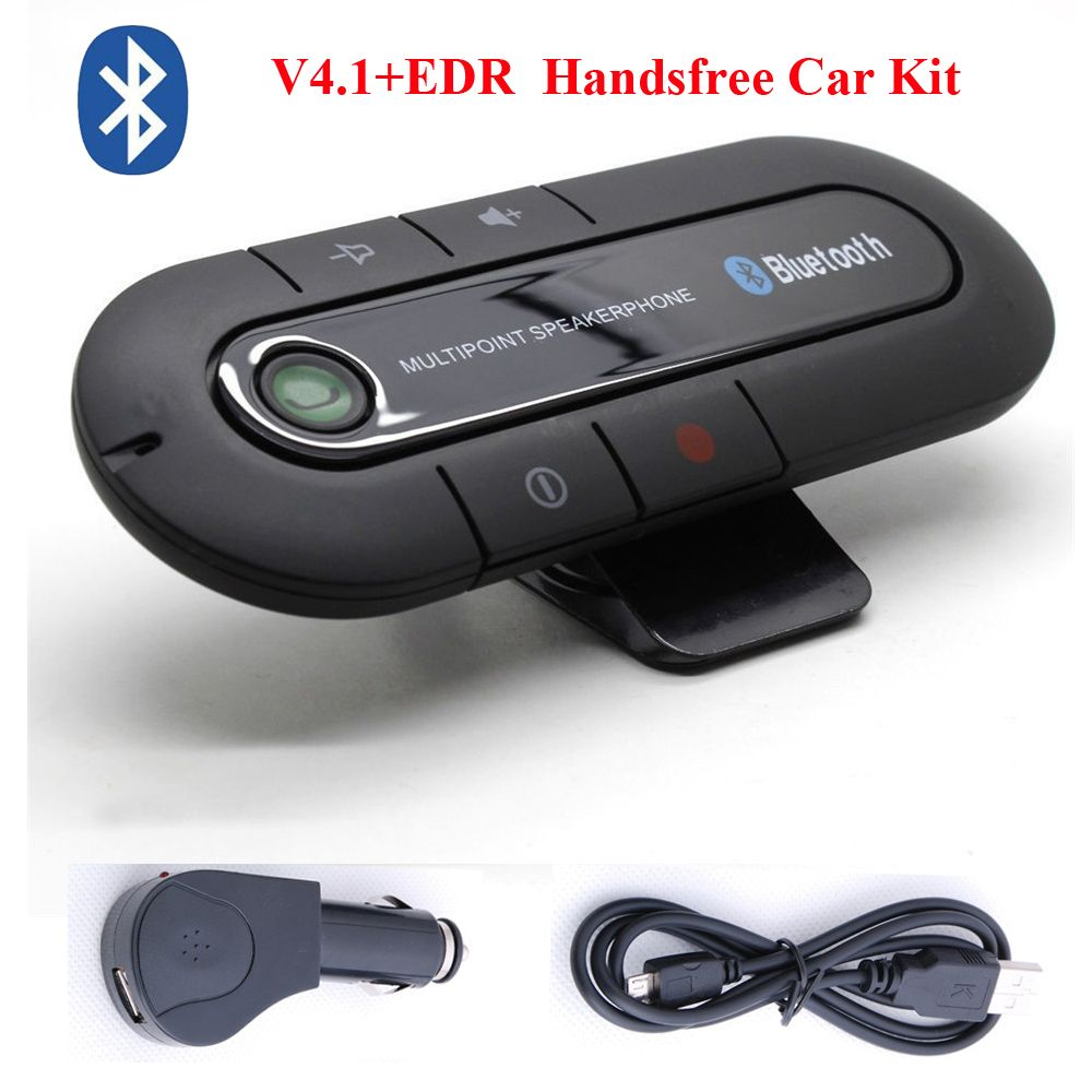 Wireless Bluetooth Handsfree Car Auto Kit Speakerphone Speaker for MP3 Phone US