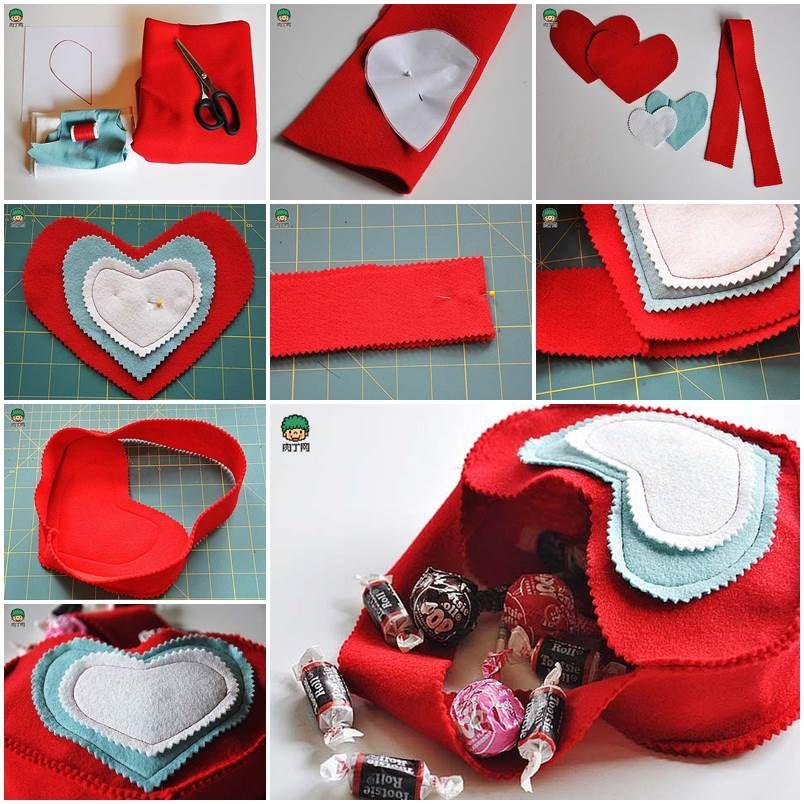 DIY Valentine�s Day Felted Gift Bag