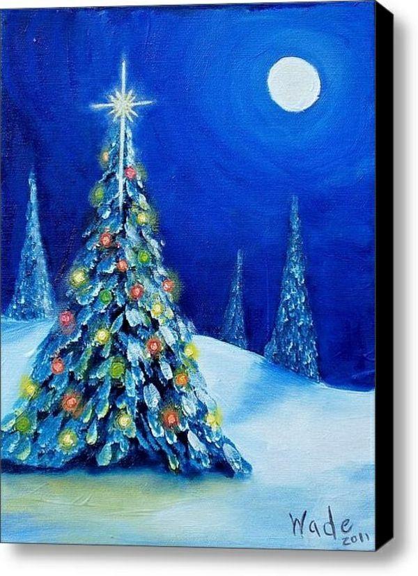 Diy weihnachten leinwand druck blau nacht tannenbaum dekoration diy weihnachten leinwand druck blau nacht tannenbaum christmas canvaschristmas solutioingenieria Gallery