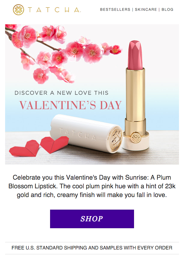 Tacha Valentine's Day email. SL: Love Your Lips This Valentine's Day
