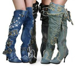jean style looking boots? uh yes. !