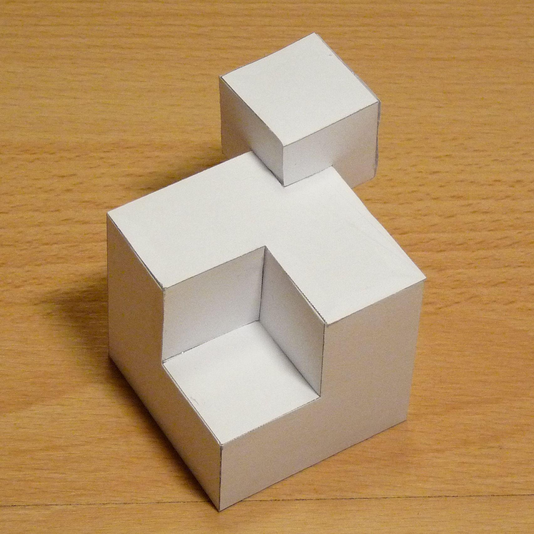 Paper model cubic shape 3