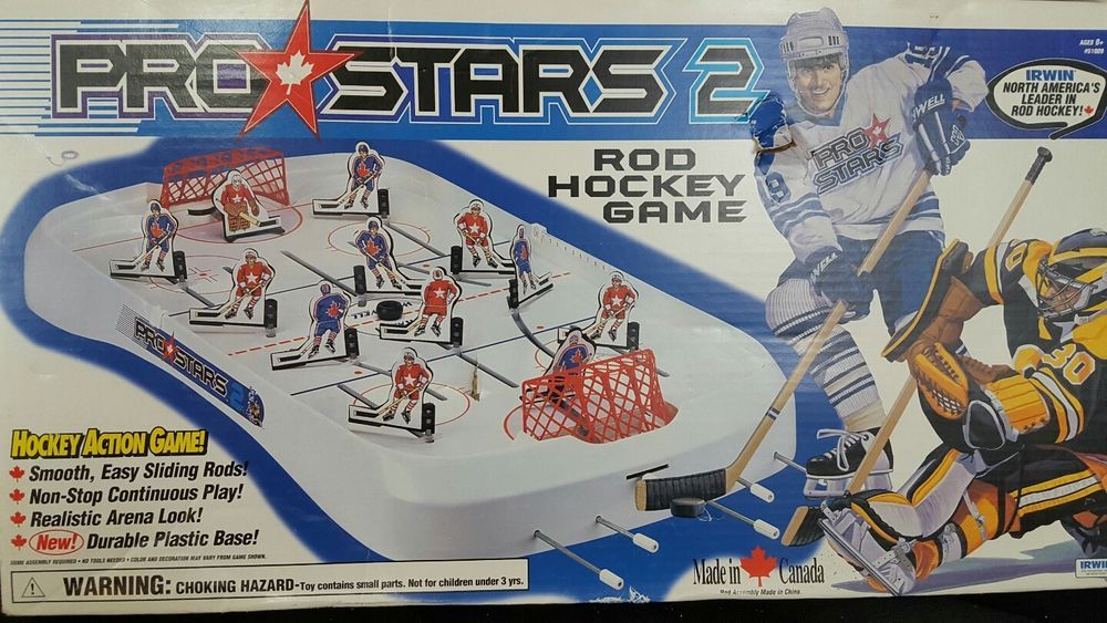 Irwin Table Top Hockey Game Rod Action Pro Stars 2 New Unused Toys Amp Hobbies Games Board Amp Traditional Game Hockey Games Hockey Traditional Games