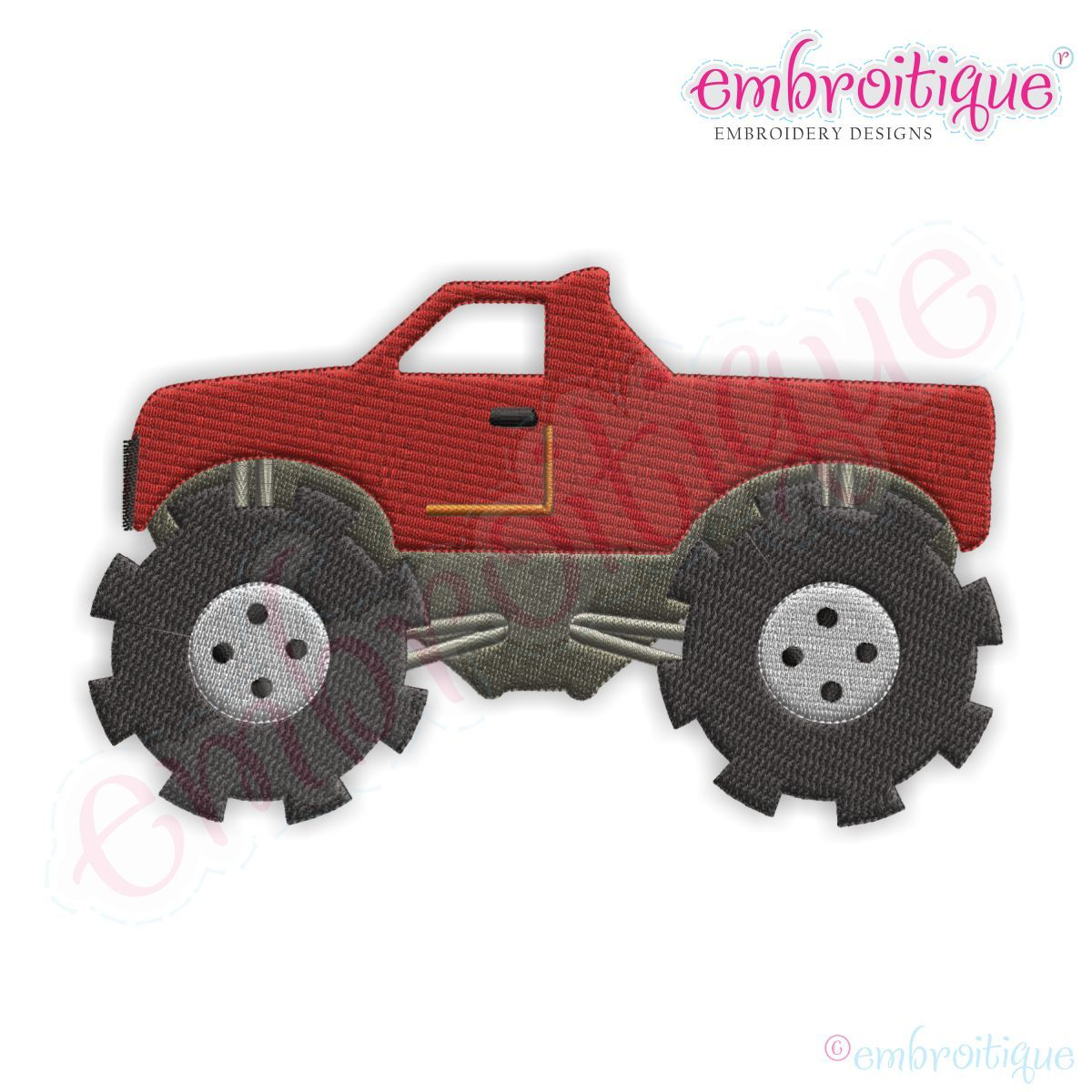 Monster Truck Filled Embroidery Design