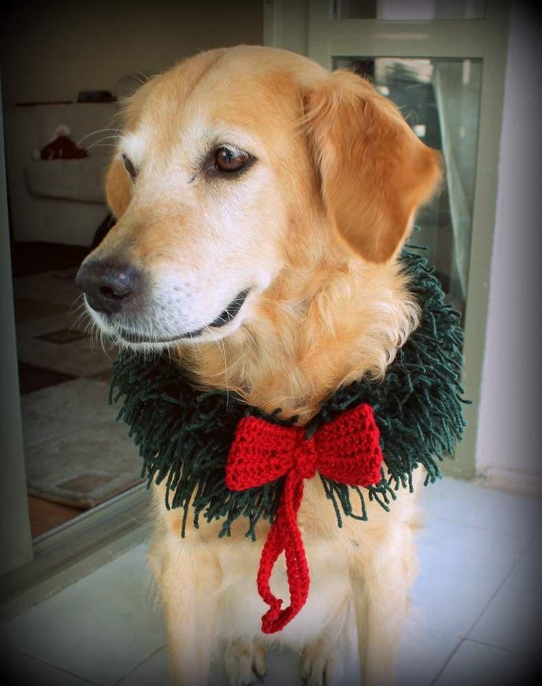 Christmas Wreath for Dogs, Dog Christmas Wreath, Holiday Dog Costume ...