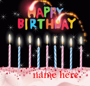 Best Happy Birthday Animation Pic With Name Happy Birthday Candles Birthday Cake Gif Free Birthday Card