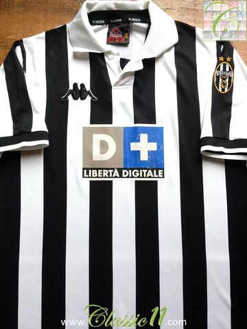 6740a5ea1c6 Relive Juventus  1998 1999 season with this vintage Kappa home football  shirt.