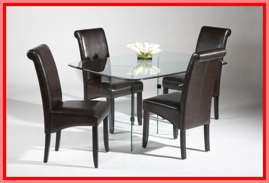 Glass Dining Table Set With Bench