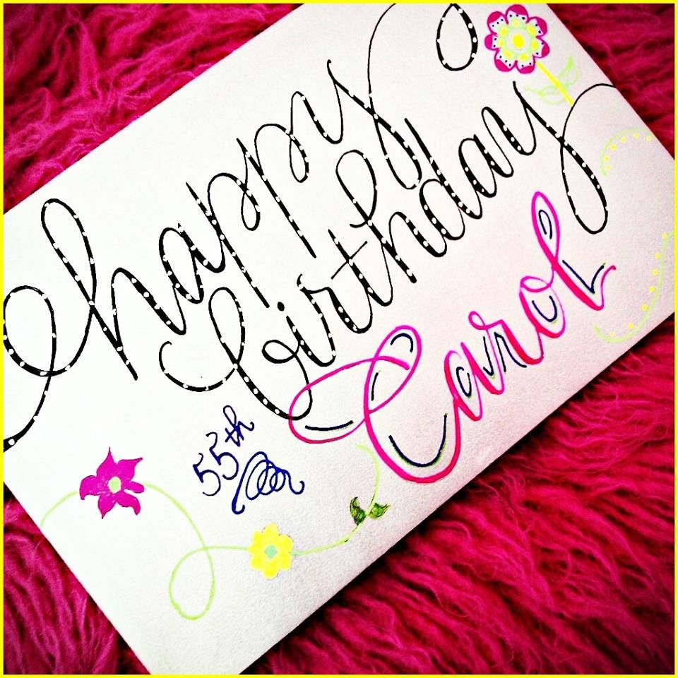 Recent Calligraphy Birthday Envelope  Party Ideas