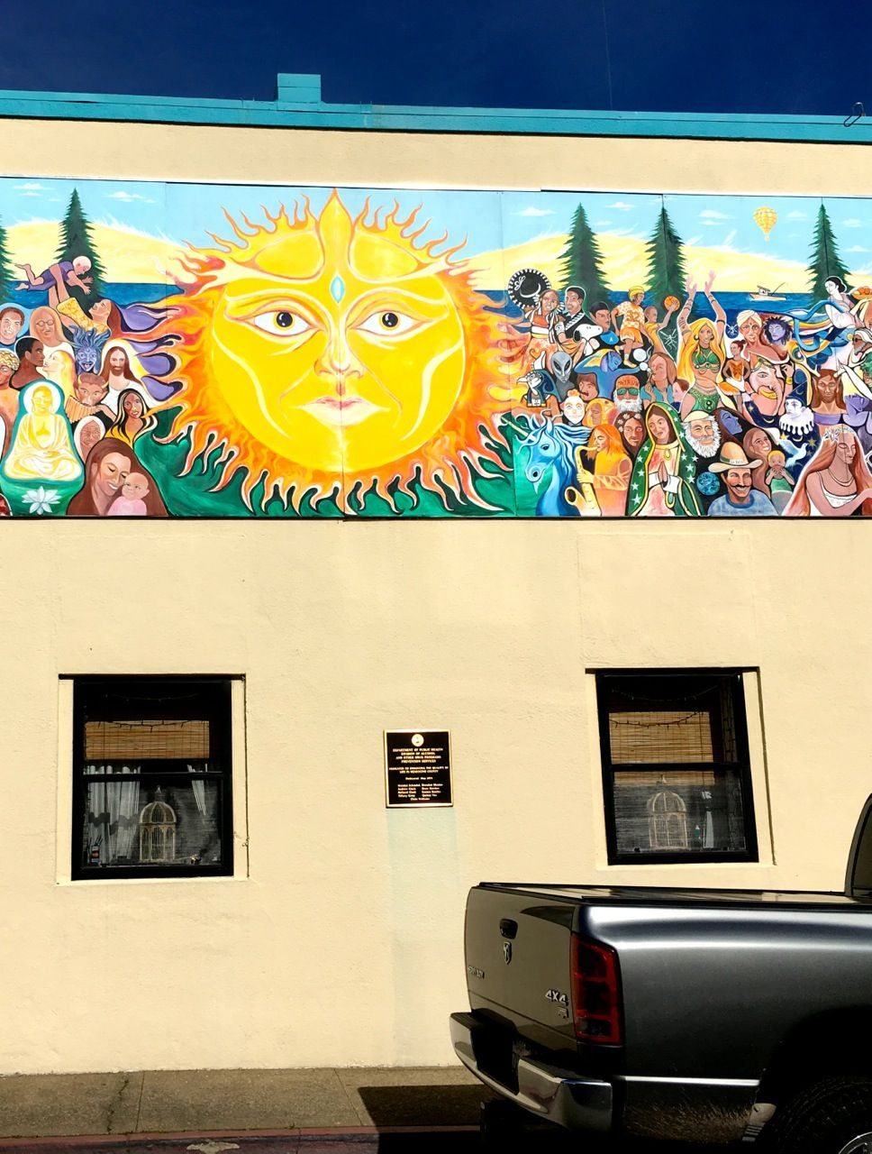 Mural in downtown ukiah ca digital