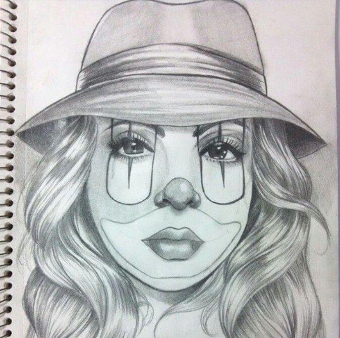 Pepe Vazquez Payasa Drawing Clown Girl Gangsta Airbrush Art In