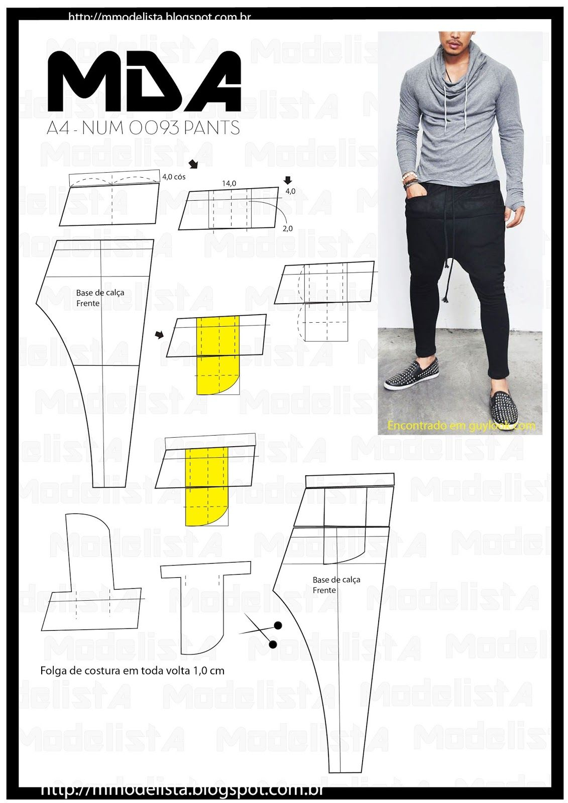 A4 NUM 0093 PANTS continua | costura | Pinterest | Pants, Sewing and ...