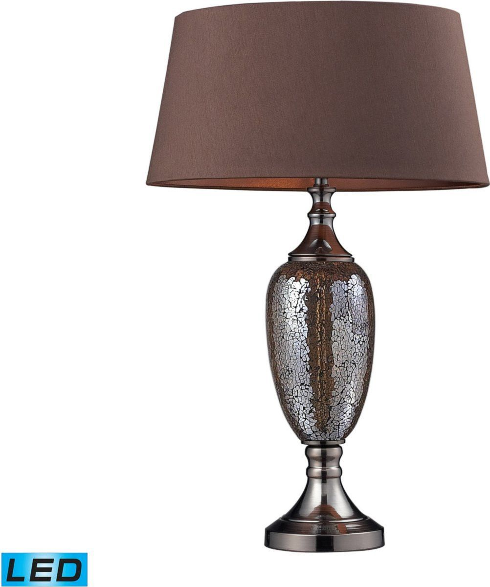 0 030096 Perth 1 Light Led Table Lamp Bronze Mosaic Coffee