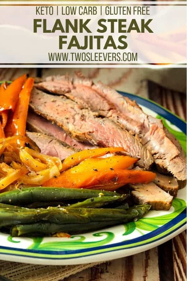 Flank Steak Fajitas #steakfajitarecipe Tired of the same old ground beef tacos on taco Tuesdays? Mix things up with these delicious and keto friendly Flank Steak Fajitas! #flanksteaktacos