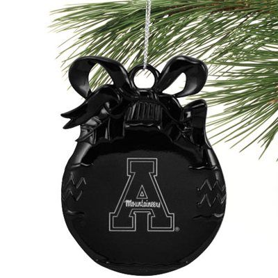 Appalachian State Mountaineers Black Flat Ball Orn Ball