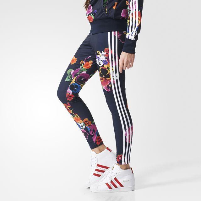 adidas - Floral Leggings - Adidas - Floral Leggings Hmm Pinterest Floral Leggings And