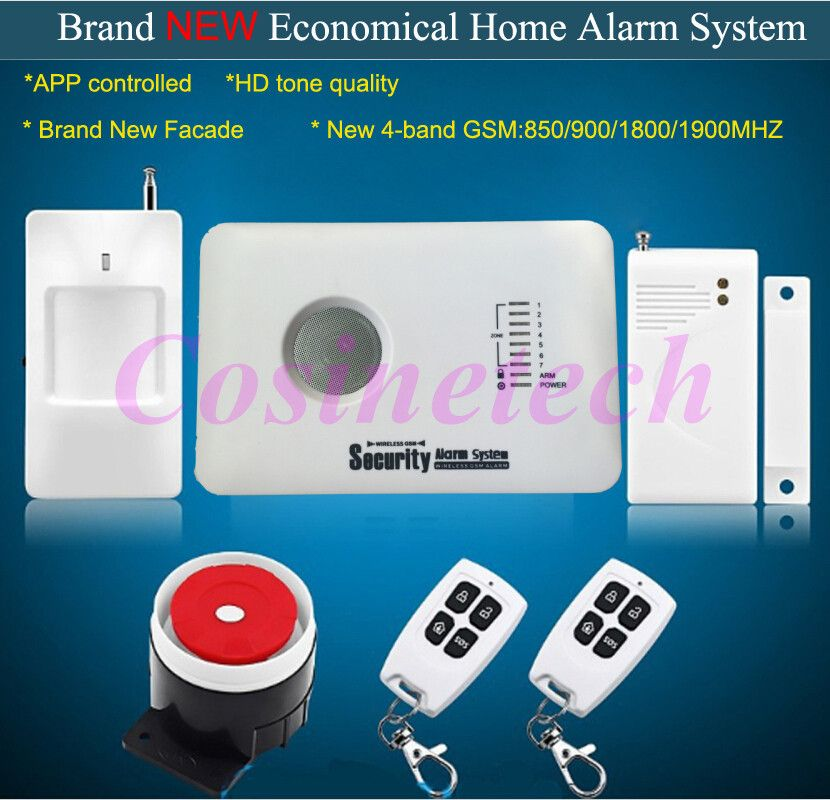 Cheap Home Security Gsm Alarm System With App Control 7