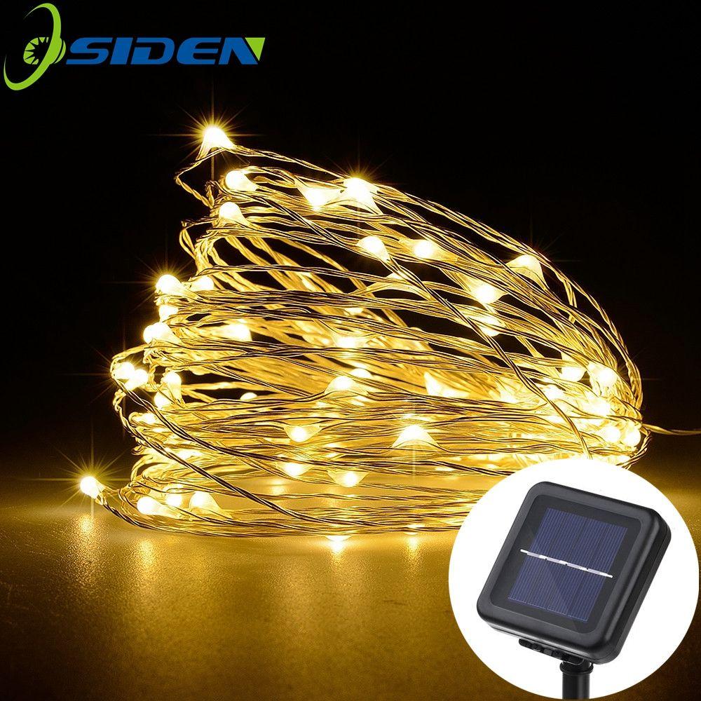 Led-lichterketten osiden led solar string lampe lichterkette weihnachtsbeleuchtung