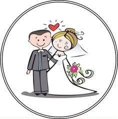 Caricaturas de noviosImagenes y dibujos para imprimir  boda