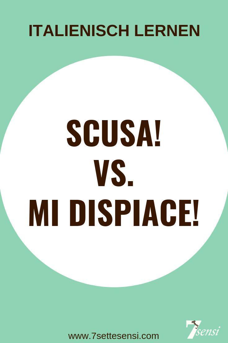 Entschuldigung auf Italienisch - Scusa!/Scusi! vs. Mi