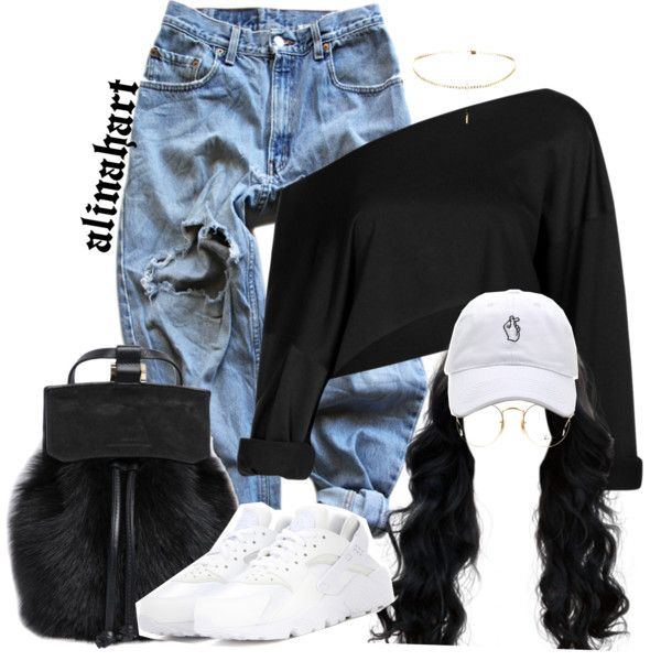 $ by alinahartikainen on Polyvore featuring Levi's, NIKE and Ray-Ban
