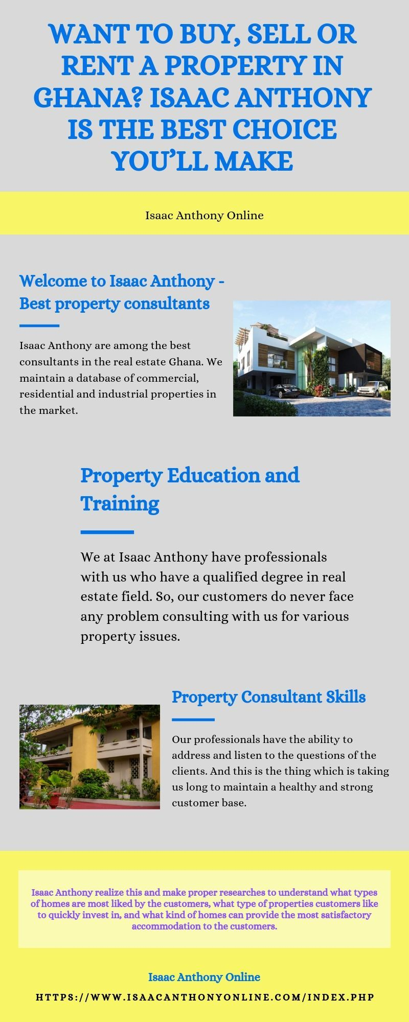 Want To Buy Sell Or Rent A Property In Ghana Isaac Anthony Is The Best Choice You Ll Make