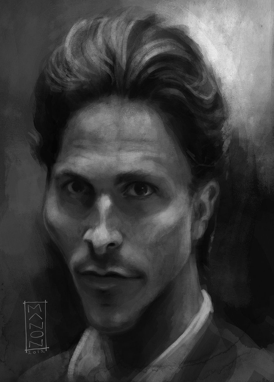 Christian Bale Drawing (in process) by flopific on DeviantArt