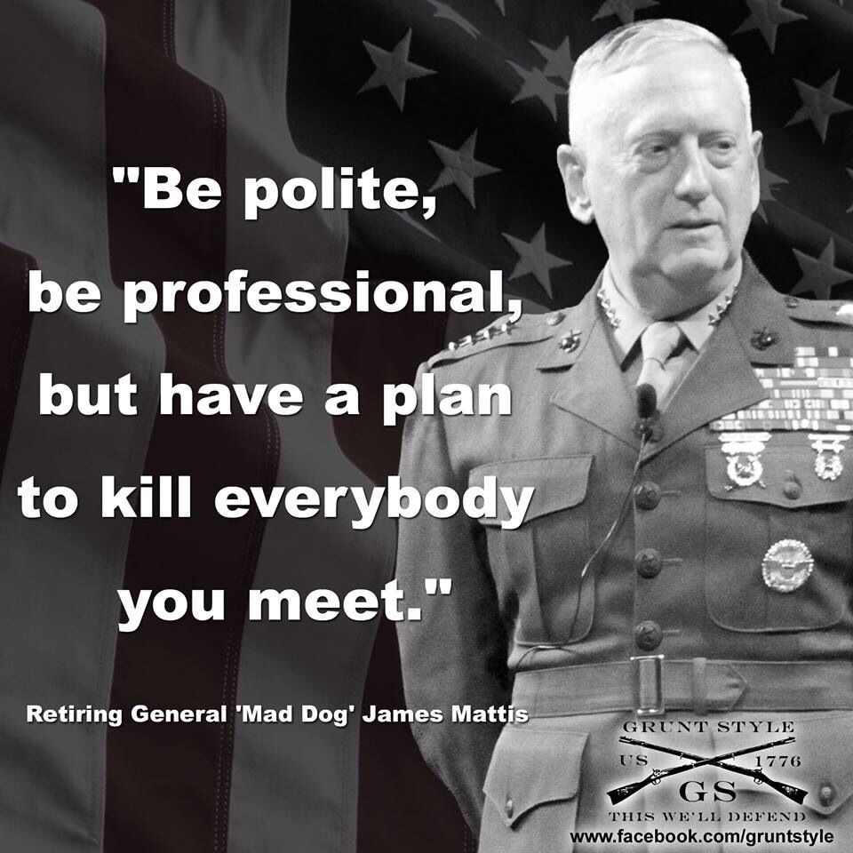 General Mattis Quotes New Genjames Mattis Usmc Ret  Warriors  Pinterest  General James