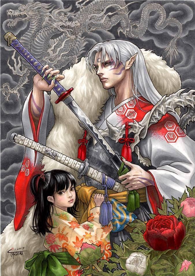 Rin and Sesshomaru Inuyasha Pinterest Anime, Manga