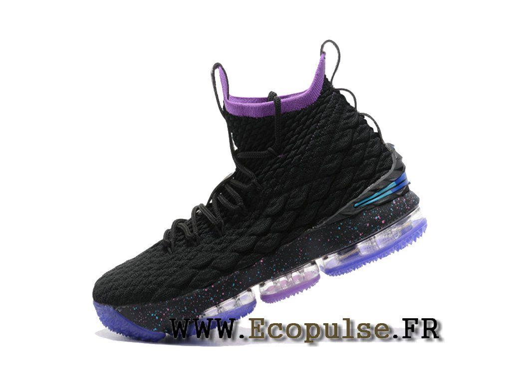 official photos 1bc99 1ec3d Nike LeBron 15 XV Chaussures Nike Prix Pas Cher Pour Homme Officiel 2018  Noir