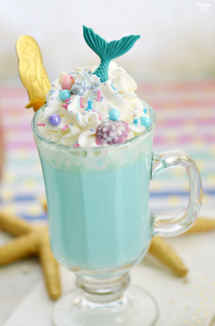 Blue Mermaid Hot Chocolate - Finding Zest