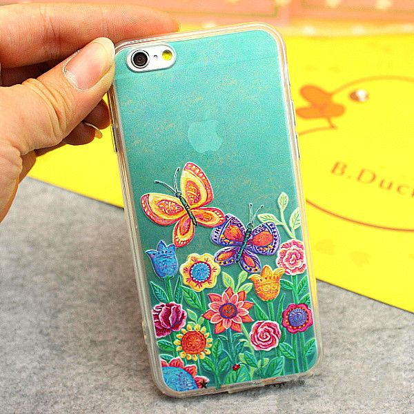 Butterfly iPhone 6 case oil painting style sunflower iPhone covers | Phone cases & Pad cover CasesNew.com