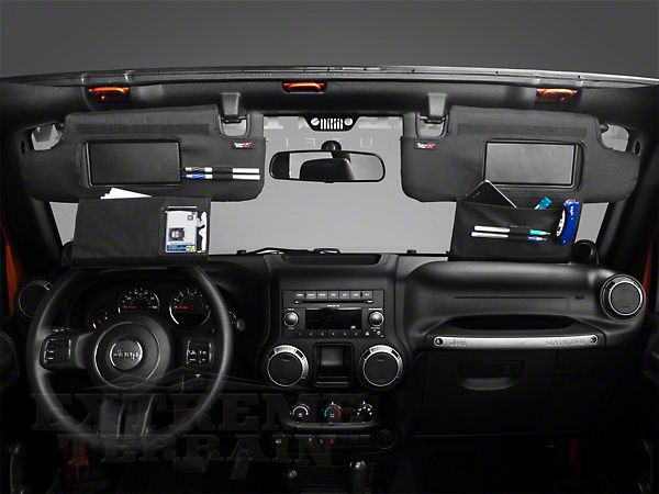 Rugged Ridge Jeep Wrangler Black Sun Visor Organizer Pair 13305 08 10 18 Jeep Wrangler Jk Jeep Wrangler Accessories Jeep Wrangler Jeep Wrangler Jk