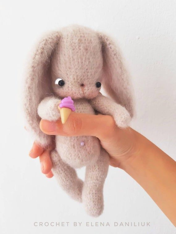 Stuffed bunny, crochet rabbit, bunny plush, felt bunny, knit bunny, bunny doll, knitted toy, amigurumi animal, soft bunny, art doll animal #bunnyplush