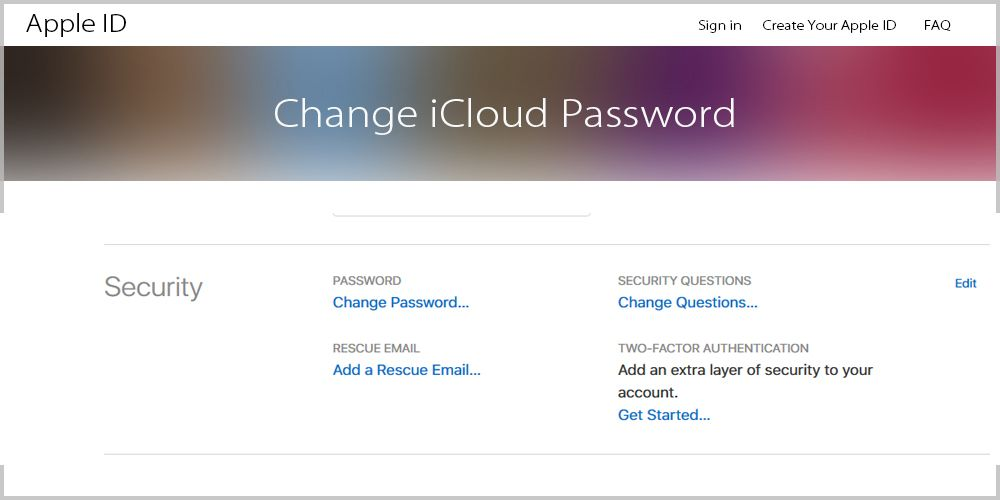 recover icloud password without email