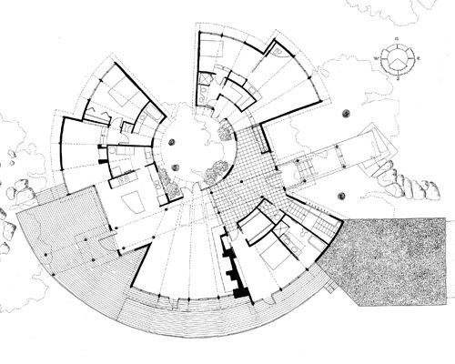 Circular plans google search 602 studio pinterest for Circular house floor plans